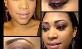 Purple Glitter Eye