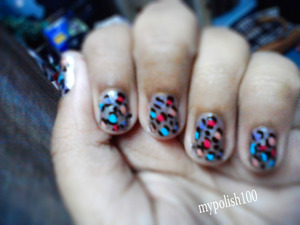 Have you  heard of color block nails well this is color print nails