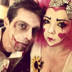 This was my makeup for halloween last year :). Now I feel like I need to do something even more OTT this year :s