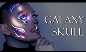 Sexy Holographic Galaxy Skull - Halloween 2017 Makeup Tutorial