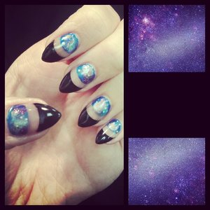 Galaxy and negative space design