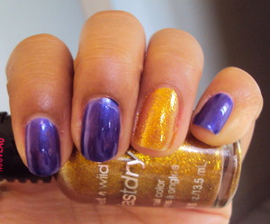 Purple- Wet n Wild Buffy the Violet Slayer Gold- Wet n Wild The Gold and the Beautiful