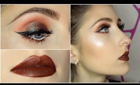 Duochrome Red Toned Eyes + Brown Lips GRWM feat. BH Cosmetics Shaaanxo Palette | Makeup Tutorial