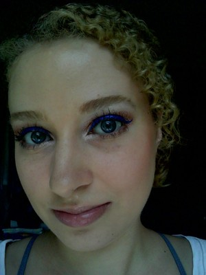 Bright blue liquid liner from Urban Decay