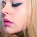 Blue angle eyes and ombre lips