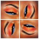 Red Orange With Royal Blue