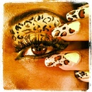 Cheetah makeup and nails