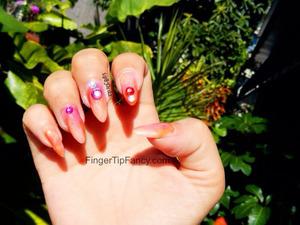 DETAILS HERE - http://fingertipfancy.com/tropical-blend-nails
