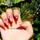 Tropical blend nails
