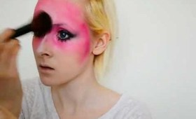 klaaqu.com: Pink Warrior makeup look