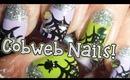 Glitzy Cobweb ♥ Inspired Nails