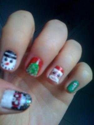 Cute X-mas manicure