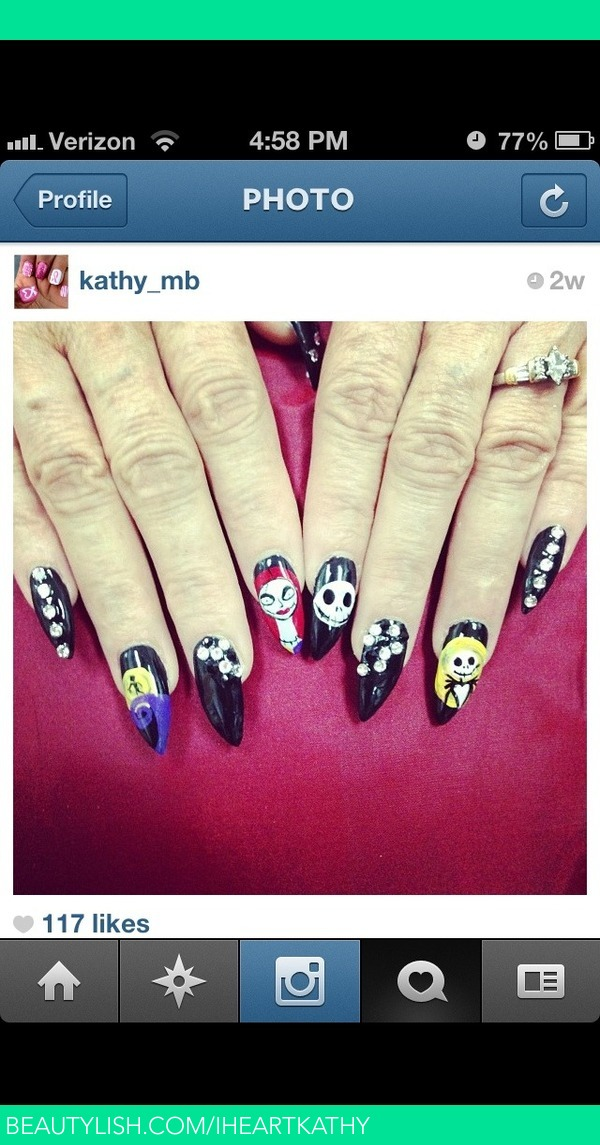 nightmare before Christmas nails | Kathy B.\'s (Iheartkathy) Photo ...