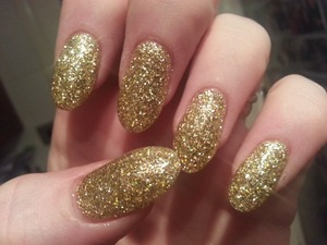 Gold acrylic glitter xxx