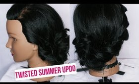 Easy Twisted Summer Updo | Hair Tutorial