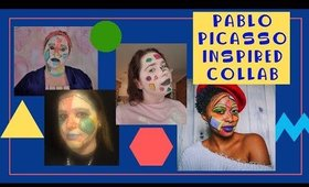 TUTORIAL: Pablo Picasso Inspired Makeup Collaboration with Shelly Ślączka, PurplePinkRed & Rae Young