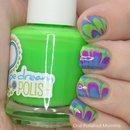 Neon watermarble