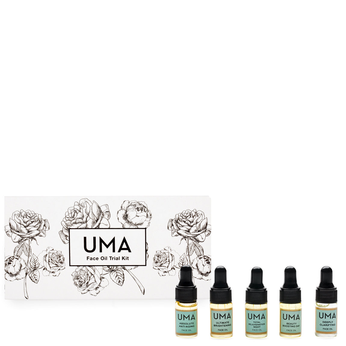 Uma Face Oil Trial Kit product swatch.