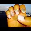 My spring nail design#powder pink#crystals#bow
