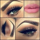 Lips, eyes and eyebrows