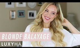 How to get BALAYAGE without bleaching your hair: NEW Blonde Balayage Luxy Hair Extensions