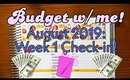 PAYCHECK x PAYCHECK Budget | BUDGET WITH ME | WEEK 1 CHECK IN | AUGUST 2019 |  | Erin Condren Deluxe