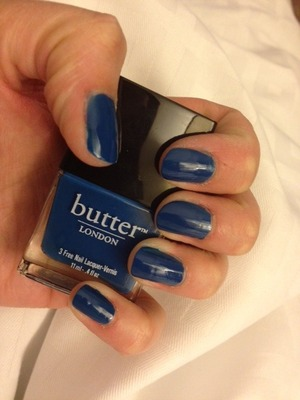 I have been really impressed with the quality of butter™ London nail lacquers.  Generally, they are opaque in one coat, but of course, I do two so that they last longer.