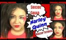 Suicide Squad Harley Quinn Inspired Makeup Tutorial Collab with BowsandNails (NoBlandMakeup)