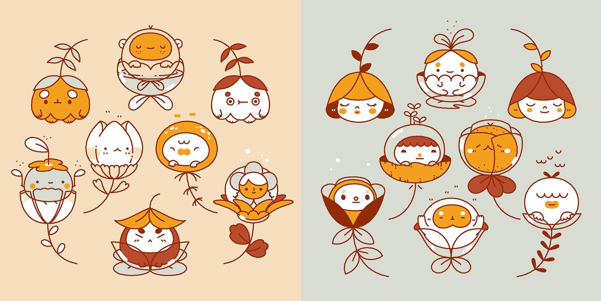 Flower Kids by Steph Fung/Mochichito