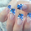 Blue Tip Nail Art Design