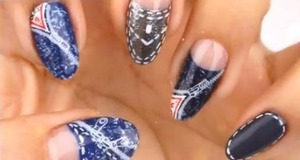 I got inspired and made DIY Jeans nail art with the tutorial. :D  simply check them out at http://saranail.blogspot.kr