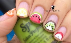 Fruit Slices Nail Art by The Crafty Ninja