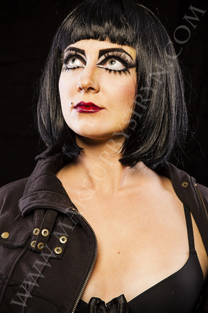 Siouxsie Sioux inspired makeup Makeup: Me/Make Up By Siryn Model: Zee Lustrum Photographer: Greg De Stefano