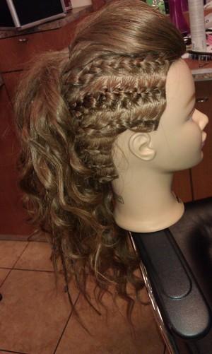My first braided fohawk..