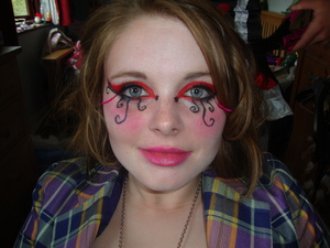 Mad Hatter Makeup modelled by my friend Zoe