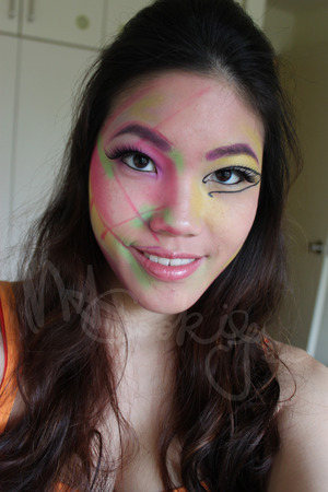 Based of Pink Friday Roman Reloaded album cover.  A fun abstract look.