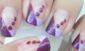 Nail Art - I Love Purple Dots - Decoracion de Uñas