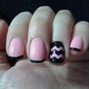 Pink & Black Chevron