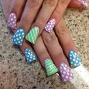 Easter eggs nails.