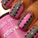 Pink and gray with holo dots