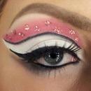 Pink, black & white cut crease