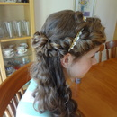 Greek inspired Prom half-updo (side)