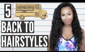 5 Quick & Easy Back to School Heatless Hairstyles! Perfect for Curly Hair & Straight Hair!