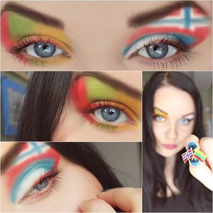 I am Edita from Lithuania who currently lives in Norway, and honoring both parties created this make-up