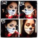 Half sugar skull makeup halloween -vcruzbebe