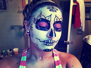 Day Of the Dead make up i sketched up myself!