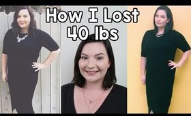 How I Lost 40 Pounds (My Weight Loss Story, Diet & Exercise Tips & Tricks) | OliviaMakeupChannel