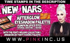 NARS Afterglow Eyeshadow Palette Pumpkin Spice Eyes | Tutorial, Swatches, & Review | Tanya Feifel