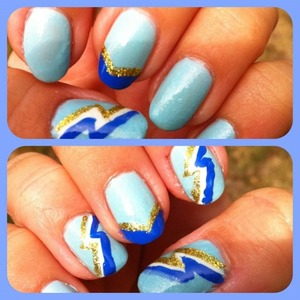 Football season-inspired nails for every San Diego Charger fan!