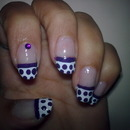 purple french with Dots